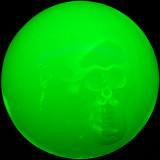 Radiated Skull 3 Size: 2.66 Price: SOLD