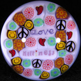 Peace, Love....and a Bullet Size: 1.67 Price: SOLD
