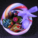 Easter Basket, Size: 1.41W x 1.82H Eggs: 0.30-0.44, Price: SOLD