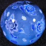 Christmas Rose and Snowflakes Size: 1.36  Price: SOLD