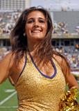 Georgia Tech Yellow Jackets Cheerleader strikes a pose