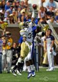 Georgia Tech DB Jamal Golden prevents a Kansas receiver from making a reception