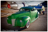 1940 Ford with a small Airstream Trailer
