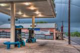 Gas Station at Dawn