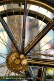 Spokes, Gear and Chain in Gold