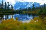 mount shuksan and picture lake, washingtom