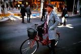 stylish guy on bicycle