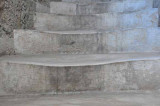 Marble Steps Warn Curved