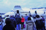 Boarding Air France in Florence