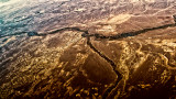 River and tributary - aerial