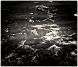Mountain range - over North America - aerial