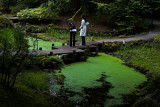 Young ladies in Nitobe Garden