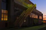Warehouse on Dock at Sunset