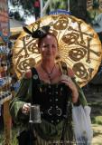 Lady with Skull Umbrella