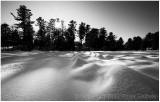 Frozen Pine Lake.