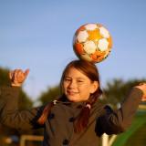 2011-09-27 Nicole with football