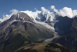 Aiguille du Gouter and Mont Blanc