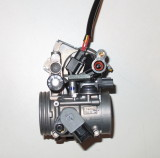 Throttle body before tuner install - Notice there are 3 electrical connectors. Only one has 2 wires.