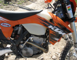 KTM 250XCF at 6000ft with AirFuel Sensor Mounted in Header and EFI Tuner