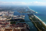 2011 - Port Everglades, John U. Lloyd State Park and Ft. Lauderdale beaches landscape aerial stock photo