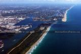2011 - John U. Lloyd State Park, Port Everglades Inlet and Ft. Lauderdale beaches landscape aerial stock photo