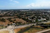 2011 - south side of FLL and the residential community in Dania Beach aerial stock photo