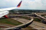 2011 - the I-95 / I-595 highway interchange at the northwest corner of FLL landscape aerial stock photo