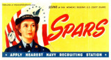 1940's - Coast Guard SPARS recruiting poster
