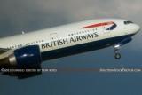 2012 - British Airways B777-236 G-VIIR taking off at TPA airline aviation stock photo