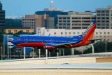 2012 - Southwest Airlines B737-3H4 N650SW landing at TPA aviation airline stock photo