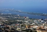 2012 - West Palm Beach and Palm Beach aerial landscape stock photo