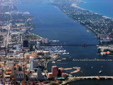 2012 - downtown West Palm Beach, Lake Worth and Palm Beach landscape aerial photo