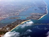 2012 - Palm Beach, Peanut Island, Lake Worth Inlet and Singer Island aerial landscape stock photo