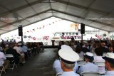 Invited guests waiting for the USCGC BERNARD C. WEBBER (WPC 1101) commissioning ceremony