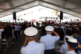 The National Anthem being played at the commissioning ceremony for the USCGC BERNARD C. WEBBER (WPC 1101)