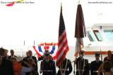 The Coast Guard Color Guard at the commissioning ceremony for the USCGC BERNARD C. WEBBER (WPC 1101)