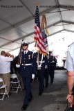 The Coast Guard Color Guard departing the commissioning ceremony for the USCGC BERNARD C. WEBBER (WPC 1101)