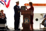 LCDR Herb Eggert and Patricia Hamilton, daughter of Bernard C. Webber and sponsor of the new USCGC BERNARD C. WEBBER (WPC 1101)