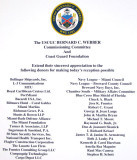 The sponsors of the reception following the commissioning of the USCGC BERNARD C. WEBBER (WPC 1101) at the Port of Miami
