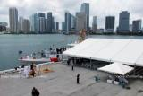 The newly commissioned U. S. Coast Guard Cutter BERNARD C. WEBBER at the Port of Miami