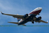 Arik Air B737-76N 5N-MJK on approach to Opa-locka Executive Airport airline aviation stock photo