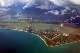2011 - Cocoa Beach, Port Canaveral and Cape Canaveral aviation aerial landscape stock photo #9291