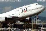 Japan Airlines B747-446 JA8087 airline aviation stock photo #6710C