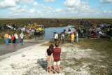 Survivors and families of those who perished in the crash being loaded onto airboats for the trip to the crash site, photo #2879