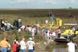 Survivors and families of those who perished being loaded on airboats for the trip to the crash site, photo #2880
