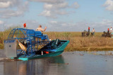 Bud Marquis, The Angel of the Everglades and his famous airboat leading the procession out to the crash site, photo #2883