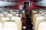 Late 1970s - rear passenger cabin of AREA Ecuador De Havilland Comet 4 HC-ALT