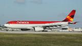 Avianca's new A-330-200 ready for take off, MIA, Nov 2011