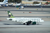 Frontier A-319 taxi towards LAX RWY 19L