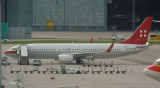 Private Air B-737-800 resting at remote stand in ZRH